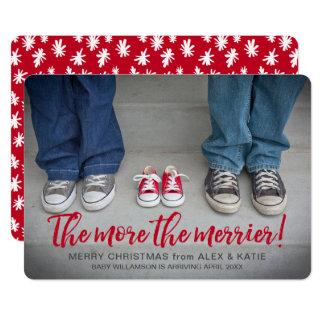 Mehr die froheren Schwangerschafts-Weihnachten Karte