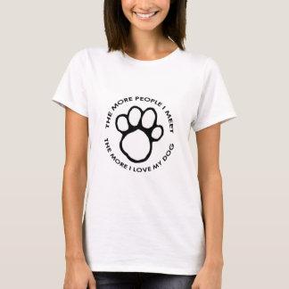 Mehr i-Liebe mein Hund T-Shirt