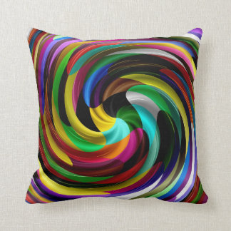 Mehrfarbiger Strudel-Retro Kunst-Entwurf abstrakt Kissen