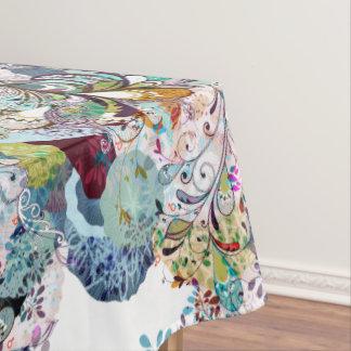 Mehrfarbiges abstraktes Blumenüberlagerungsmuster Tischdecke