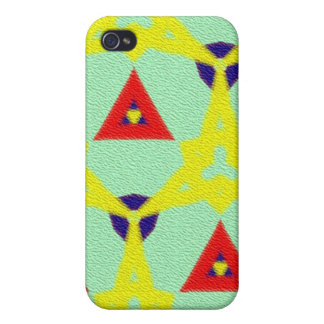 Mehrfarbiges abstraktes pern iPhone 4 cover
