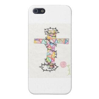 Mehrfarbiges Dornenkreuz iPhone 5 Cover