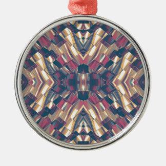 Mehrfarbiges dunkles modernes rundes silberfarbenes ornament