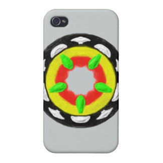 Mehrfarbiges trendy abstraktes Muster iPhone 4 Cover