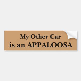 Mein anderes Auto ist ein Appaloosa Autoaufkleber