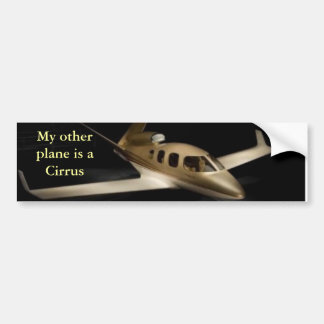Mein anderes Flugzeug ist ein Cirrus Autoaufkleber