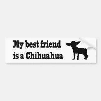 Mein bester Freund in einem Chihuahua. Autoaufkleber
