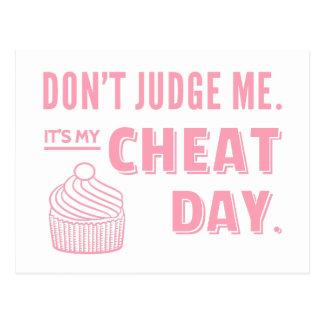 Mein Betrüger-Tagesrosa-Kuchen-Diät-Spaß Postkarte