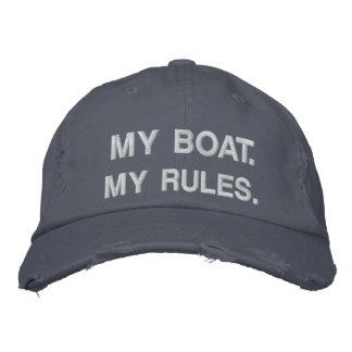 Mein Boot. Meine Regeln - lustige Bootfahrt Bestickte Kappe