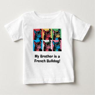 Mein Bruder ist eine französische Bulldogge! Baby T-shirt
