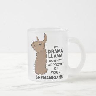 Mein Drama-Lama genehmigt nicht Ihre Shenanigans Mattglastasse