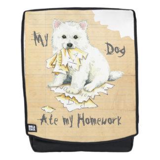 Mein Eskie aß meine Hausaufgaben Rucksack