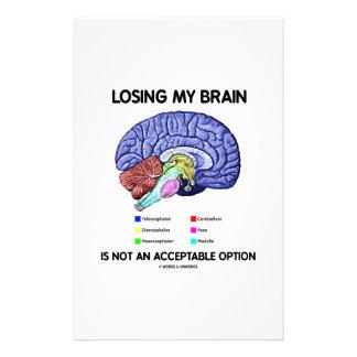 Mein Gehirn zu verlieren ist nicht eine annehmbare Briefpapier