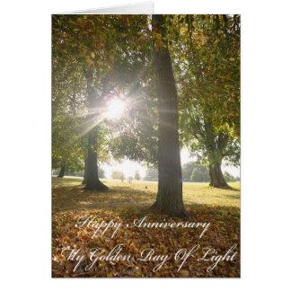 Mein goldener Strahl der Licht-Jahrestags-Karte Grußkarte