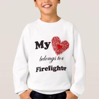 Mein Herz gehört einem Feuerwehrmann Sweatshirt