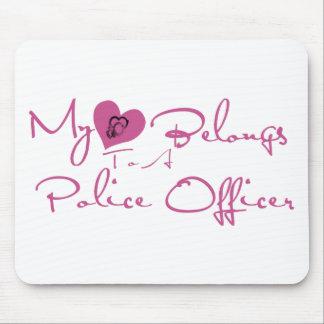 Mein Herz gehört einem Polizeibeamten Mauspads