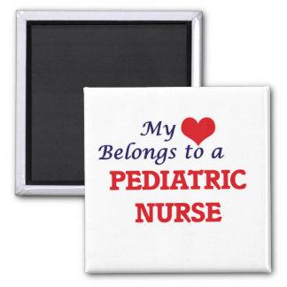 Mein Herz gehört einer pädiatrischen Quadratischer Magnet