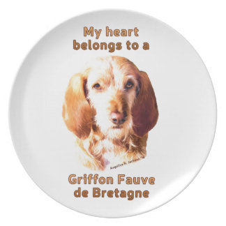 Mein Herz gehört Griffon Fauve de Bretagne Teller