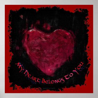 Mein Herz gehört Ihnen der Valentinstag romantisch Poster
