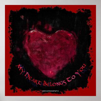 Mein Herz gehört Ihnen Valentinsgruß-romantisches Poster