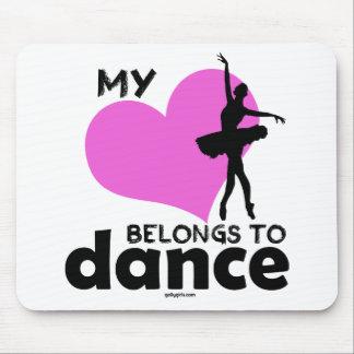 Mein Herz gehört Tanz Mousepad