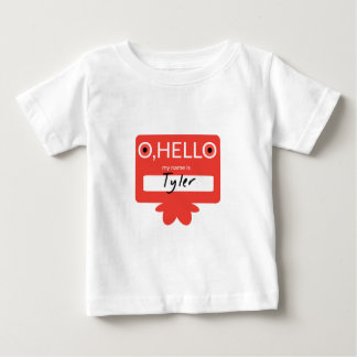 Mein Name O hallo ist Tyler Baby T-shirt