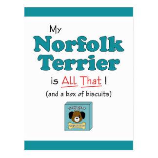 Mein Norfolk Terrier ist alles das! Postkarte