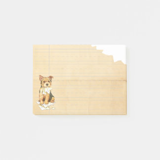 Mein Norwich-Terrier aß meine Hausaufgaben Post-it Klebezettel