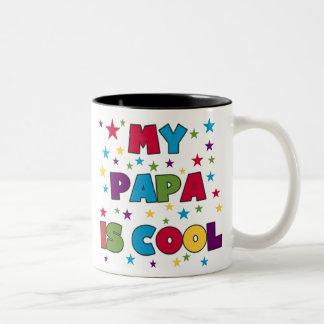 Mein Papa ist cool Zweifarbige Tasse