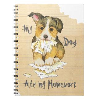 Mein Pembroke-WaliserCorgi aß meine Hausaufgaben Spiral Notizblock