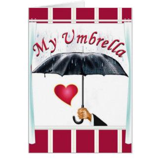 Mein Regenschirm mein Schutz 1 Karte