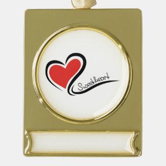 Mein Schatz-Valentinsgruß Banner-Ornament Gold