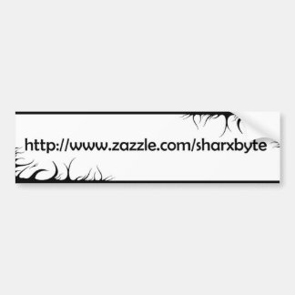 Mein Text URL (weißes, Schwarzes) Autoaufkleber
