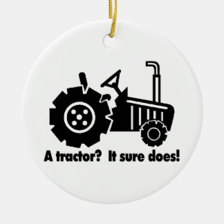 Mein Traktor ist ein Küken-Magnet Keramik Ornament