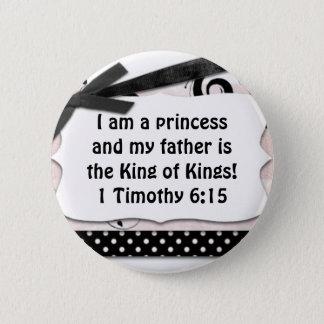 Mein Vater ist König von König Runder Button 5,7 Cm