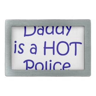 Mein Vati ist ein heißer Polizeibeamte Rechteckige Gürtelschnalle