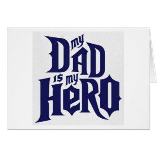 mein Vati ist mein Held Karte