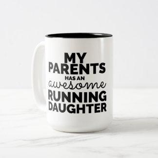 Meine Eltern hat eine fantastische laufende Zweifarbige Tasse