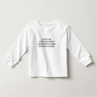 Meine Fuß-Neigungs-Reichweite die Pedale in meinem Kleinkinder T-shirt