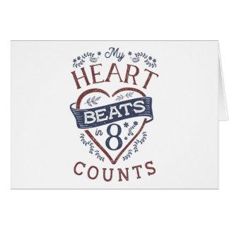 Meine Herz-Schläge im 8 Zählungs-Tanz Karte