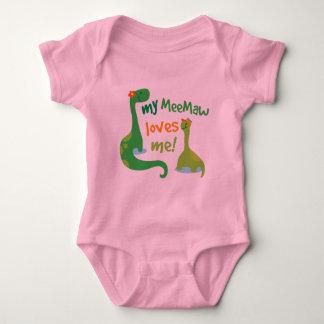 Meine Meemaw Lieben ich Dinosaurier Baby Strampler
