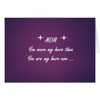 Meine Mutter meine Gruß-Karte der Held-Mutter Karte