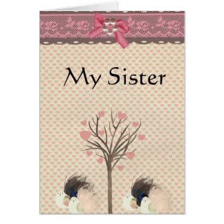 Meine Schwester-Karte Karte