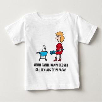 meine Tante kann besser grillen als Dein Papa Baby T-shirt