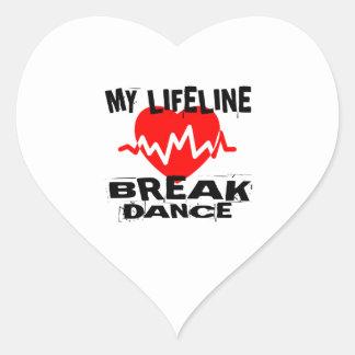 MEINE TANZ-ENTWÜRFE LEBEN-LINA BREAKDANCE Herz-Aufkleber