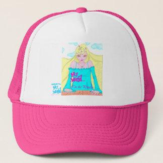Meine Welt bin ich das Prinzessinmädchenkleid Truckerkappe