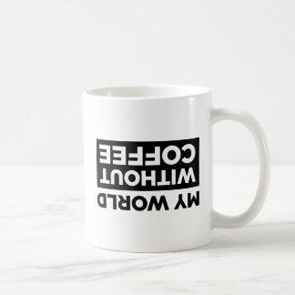 Meine Welt ohne Kaffee Tasse