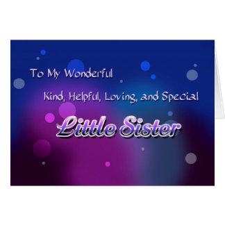 Meine wunderbare kleine Schwester (Geburtstag) Karte