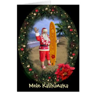 Mele Kalikimaka Grußkarte
