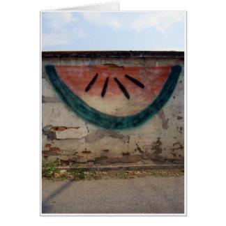 Melone-Graffiti Karte